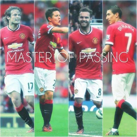 United's diamond of midfield passing accuracy (v QPR): Di Maria 80%  Herrera 91% Blind 96% Mata 98%  Shine bright, just like diamonds.♥