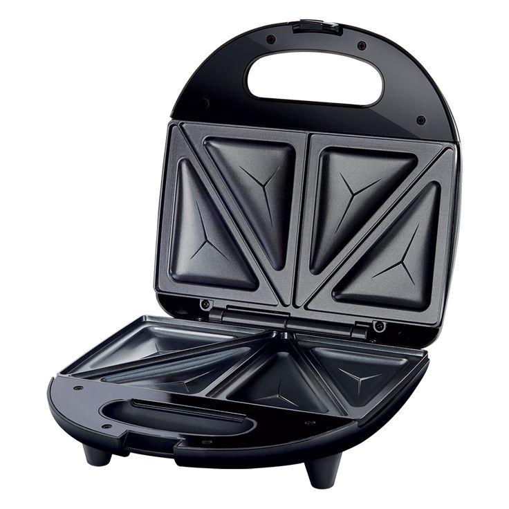 Sandwich Maker SSM 4300SS - Stainless steel design - Prepare 4 triangle sandwiches - Automatic temperature control