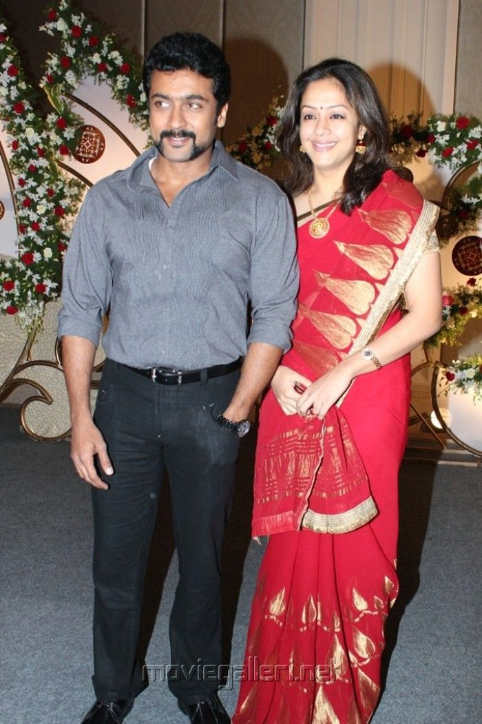 Suriya and Jothika in Jothikrishna Reception