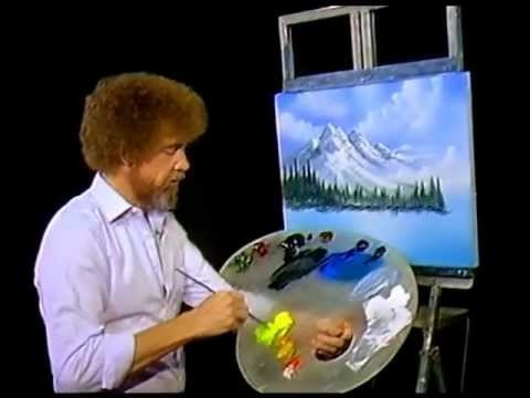 Bob Ross Time Lapse.  Put on your fav song and watch Bob go!