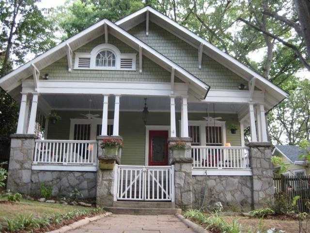 Pretty old houses houses pinterest old houses for Atlanta craftsman homes
