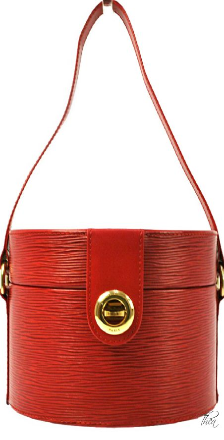 Vintage Louis Vuitton Epi Red Leather Handbag Pinterest And