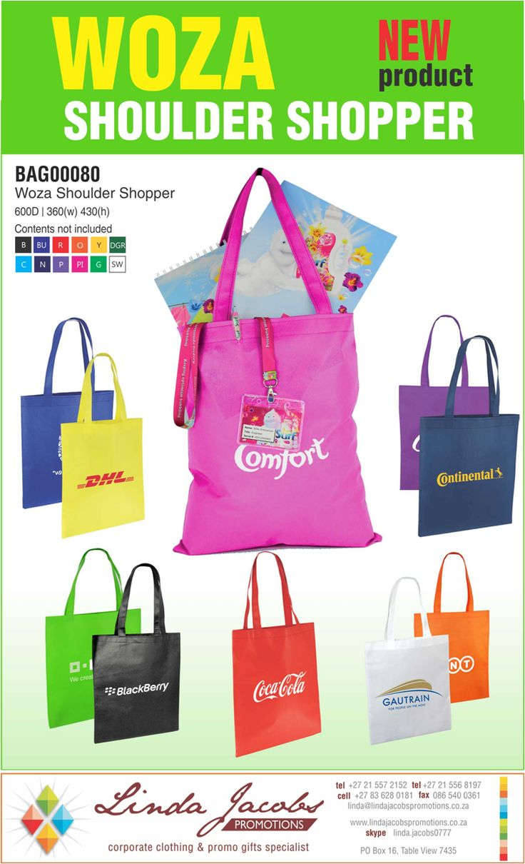#Branded Woza #shouldershopper with 1 colour screen print A great value add linda@lindajacobspromotions.co.za 083 6280181 021 5572152