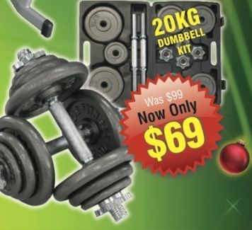 gumtree 20kg dumbbell weight kit with carry case Christmas gift ideas
