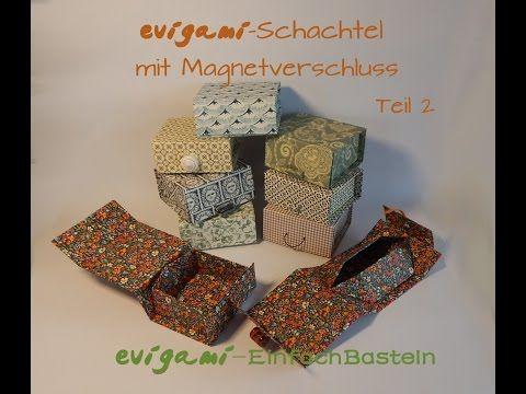 Evigami-Schachtel mit Magnetverschluss Teil 2 - YouTube