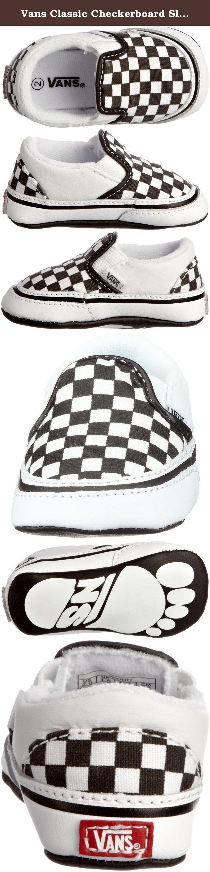 Vans Classic Checkerboard Slip Infant Black White 1 Infant