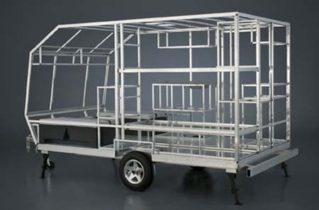 Memory Foam Mattress Topper - A light camping trailer that is homemade can be designed to be towed by small compact cars.