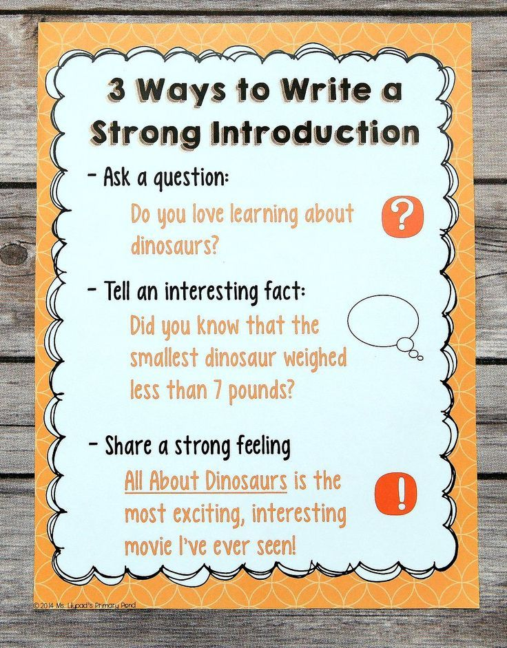 I used this anchor chart to show students concrete examples of introductions for their persuasive pieces! I modeled writing each type of beginning, too. $