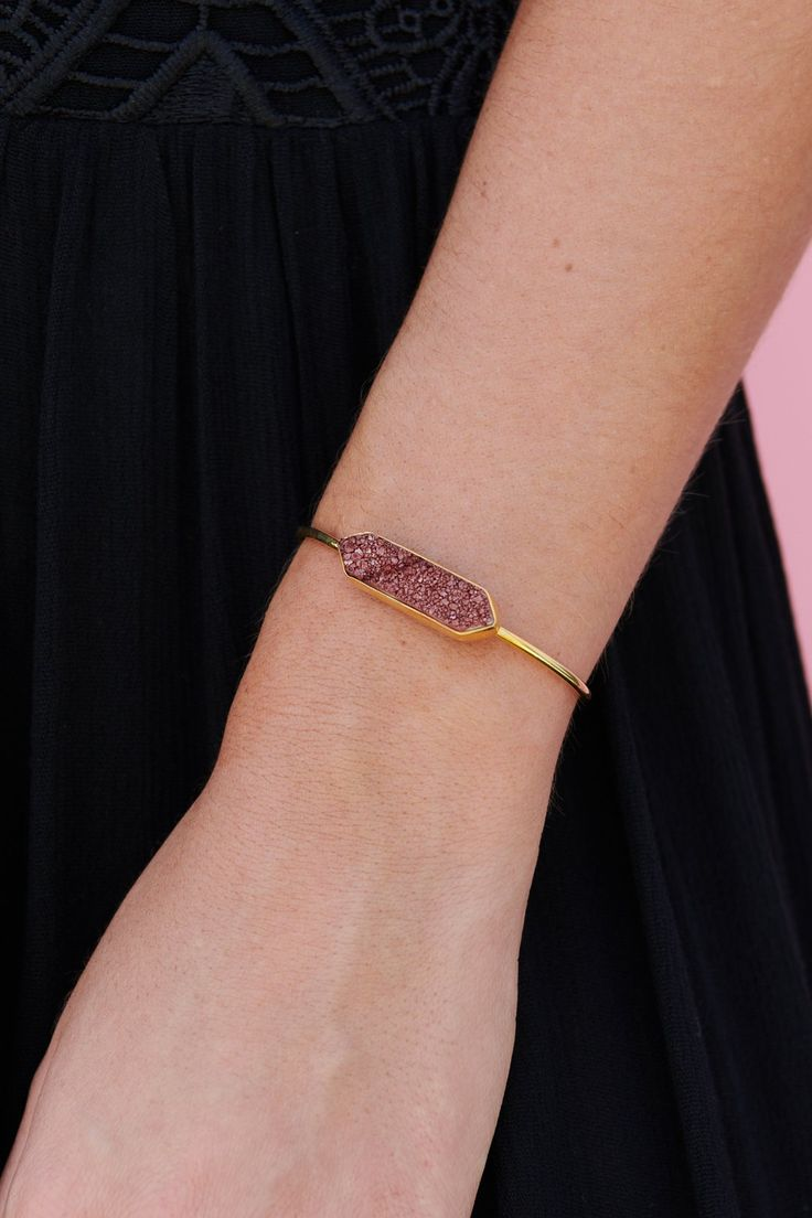 Corinne Cuff Bracelet (Gold/Brown)