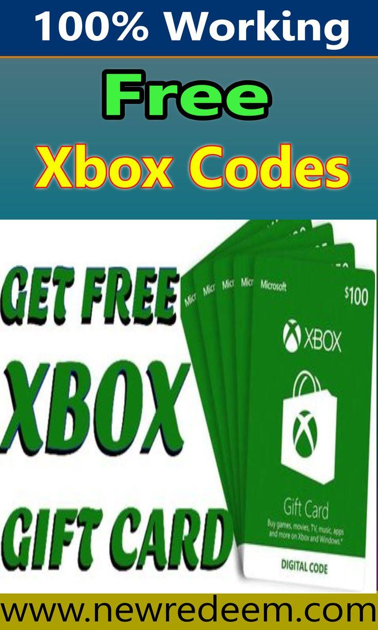 Free xbox gift card codes xbox redeem code free