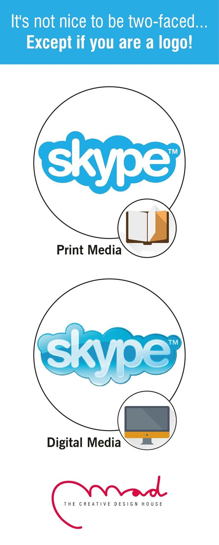 Businesses usually misuse their own logos, trying to save a few bucks... Experts suggest using 2 variants of your logo based on where it is being used... Print or digital. .#MadDesigns #BrandDesign #BrandConsultancy #brand #india #business #PrintMedia #DigitalMedia