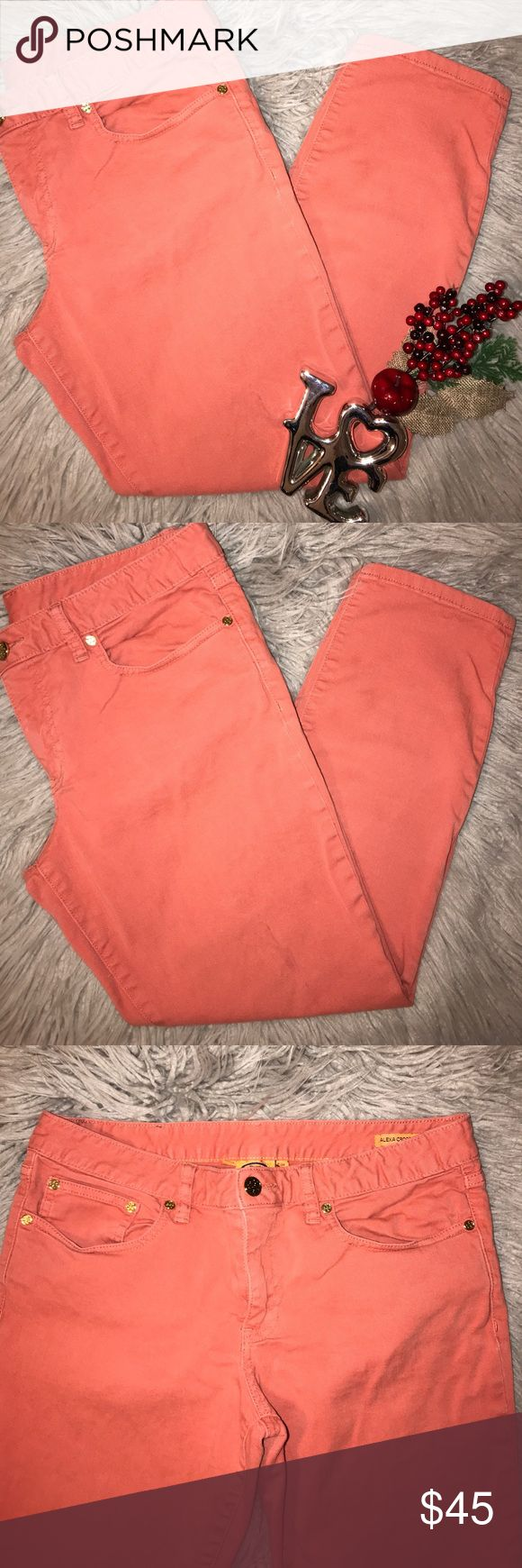 TORY BURCH Coral skinny jeans size 30 Great condition size 30 coral color skinny Tory Burch Jeans Skinny