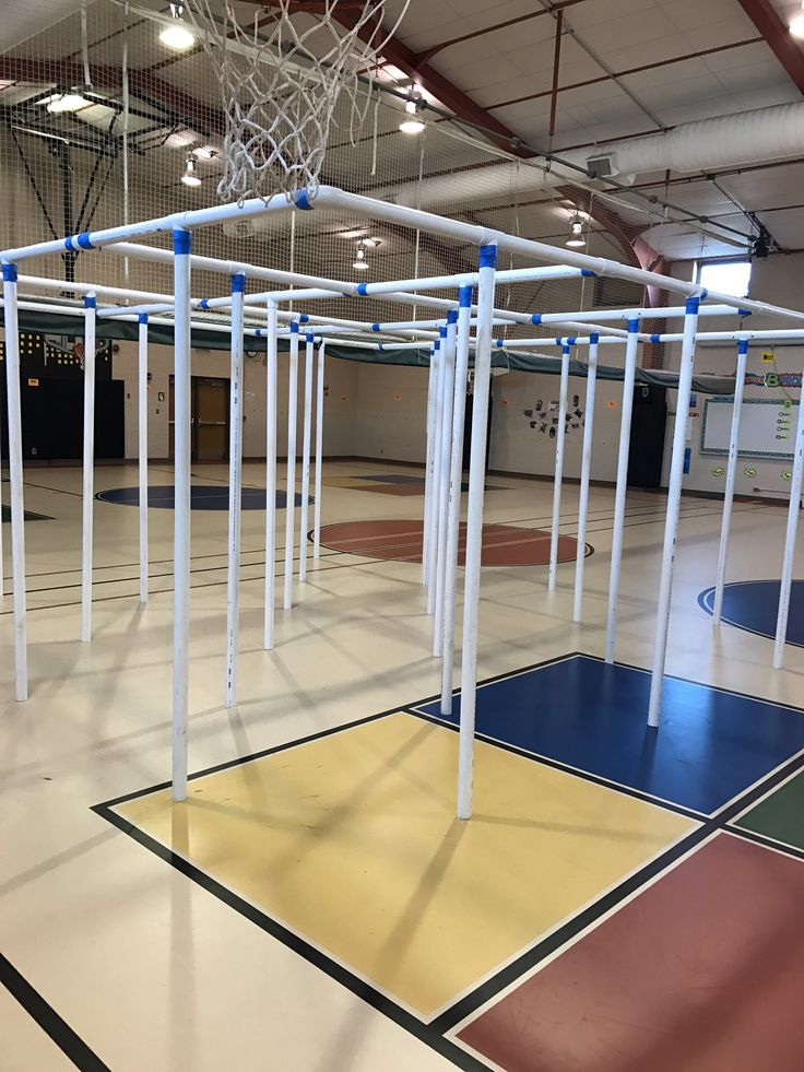 Nine Square in the Air - made from PVC pipe