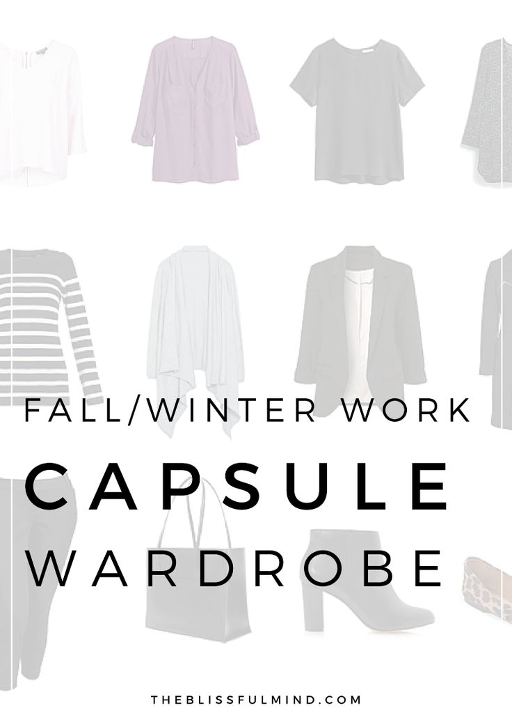 Fall Capsule Wardrobe From H M: A Fall/winter Capsule Wardrobe Especially For Work And The
