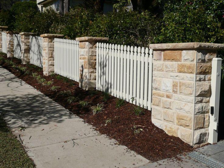 sandstone fence