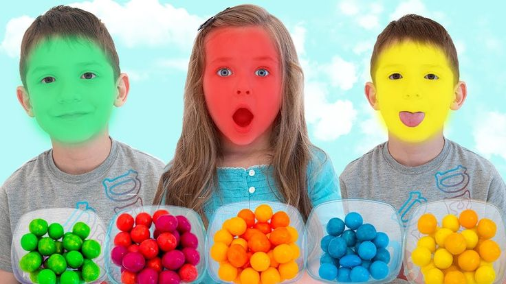 Funny Kids Eating Candy Learn colors video for children and toddlers Joh...