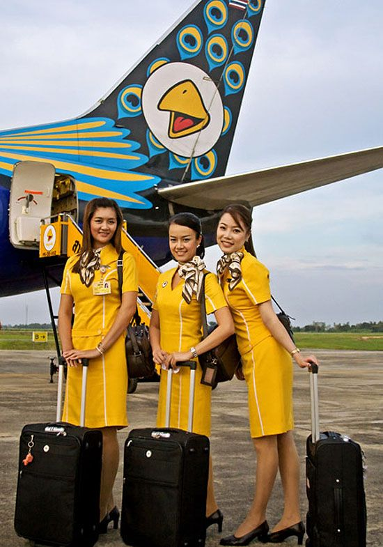 Nok Air Flight Attendants Airline Uniforms Pinterest