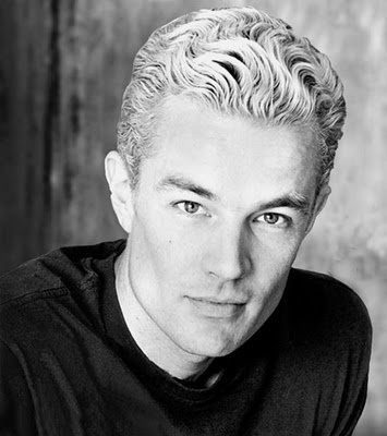 "James Marsters aka Spike from ""Buffy."" The original Damon in Vampire fandom. Seriously, his cheekbones are unreal."