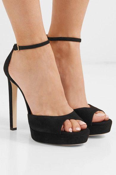 17fdde1b7dc Jimmy Choo - Pattie 130 suede platform sandals in 2019