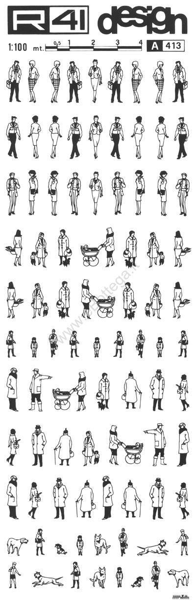 trasferibilir41 Figure umane 1:100, NERO. Trasferelli-Trasferibili R41 in fogli 9x25cm. p. 336 .