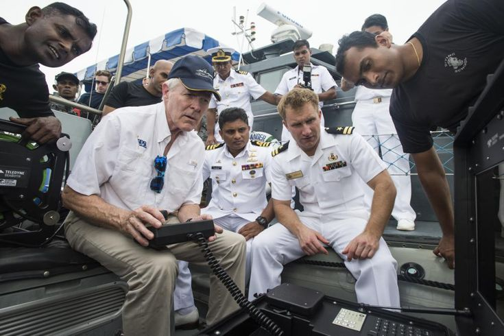Secretary of the Navy (SECNAV) Ray Mabus, U.S. Navy Sailors assigned to…