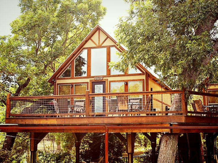 Reconnect with nature in these comfy cabins or teepees, which easily accommodate families looking to go swimming, hit the bowling alley next door, or stargaze in front of a roaring bonfire.  The Destination %0...