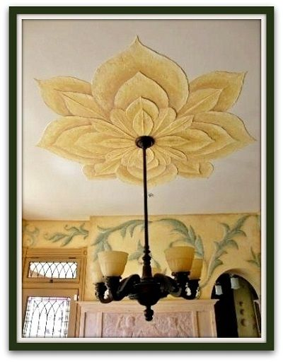 Ceiling Design Ideas -- Textured ceiling flower and old ...