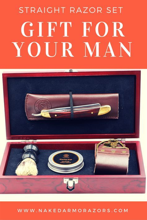 Makes a wonderful gift for the man in your life. This straight razor gift pack has everything you need to get your man started.