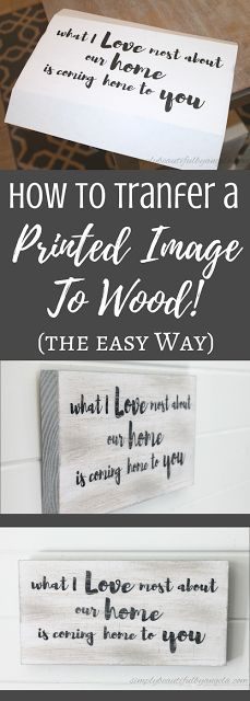 Simply Beautiful by Angela: Transfer Printed Image to Wood (The Easy Way!)