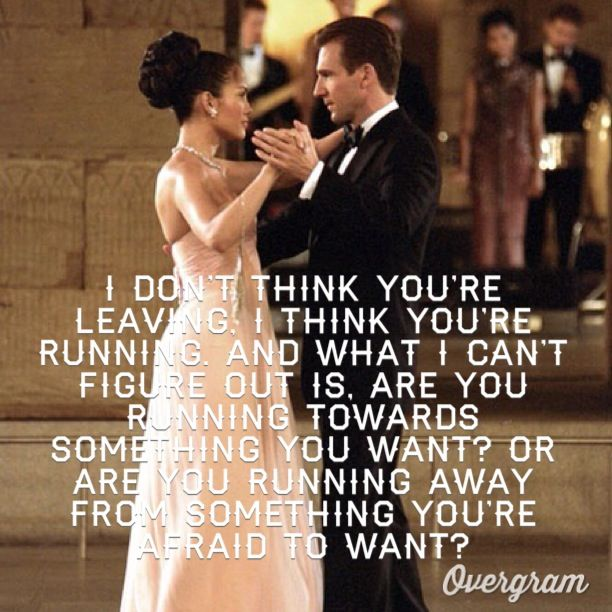 "Maid in Manhattan (2002): This moment between Marisa (Jennifer Lopez) and Christopher (Ralph Fiennes): Marisa: ""Look, I've made so many mistakes already. I just don't want to make it worse."" Christopher: ""You won't. I promise."" Marisa: ""There's something you don't know, ok ? Oh, God. How do I tell you this ? Look, the first time that you saw me I was..."" Christopher: ""You were mesmerizing."""