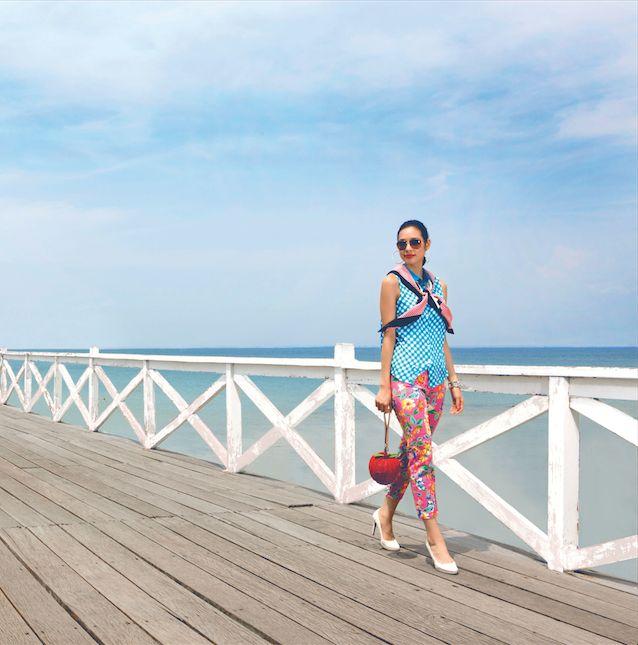 Kate Spade Fashion at Koh Si Chang Pier, Thailand