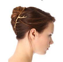 H006 нежные оленей рога шпилька для волос клипы, мода ювелирные изделия(China (Mainland))