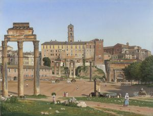 View of the Forum in Rome - (Christoffer Wilhelm Eckersberg)