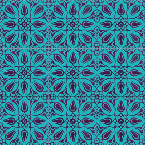 Iznik ceramic tiles - Handmade tiles can be colour coordinated and customized re. shape, texture, pattern, etc. by ceramic design studios