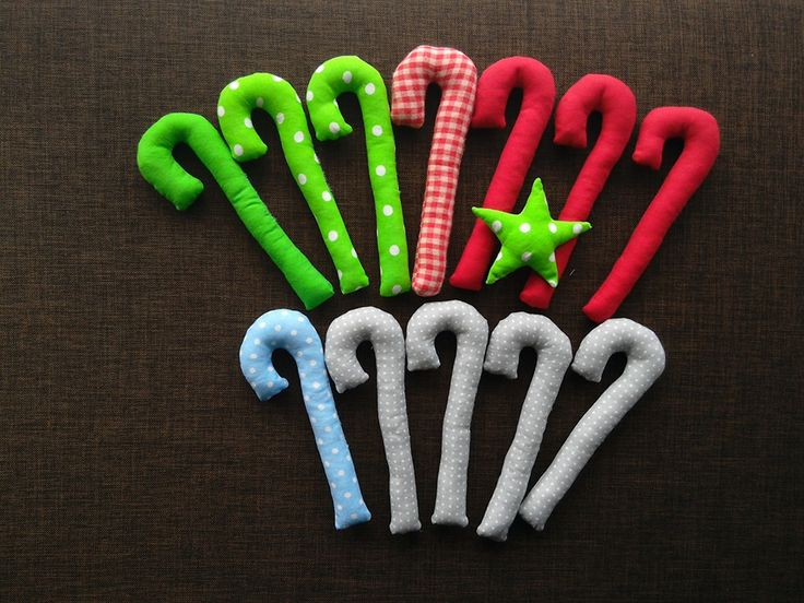 fabric candy cane