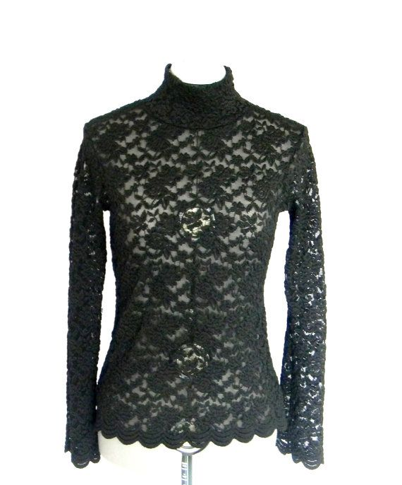 SALE Lace Pullover Top 1990s Clothing Small Size by ChickClassique, $19.00