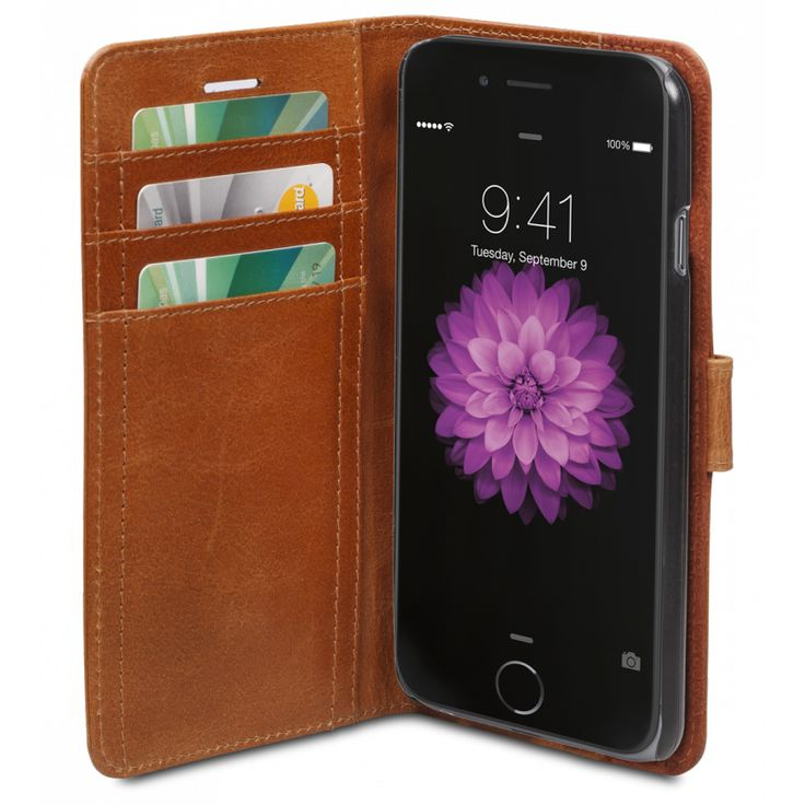 The Copenhagen leather wallet, from dbramante1928, with it's elegant, timeless design protects your iPhone 6, while providing you with numerous viewing angles. Your iPhone 6 or iPhone 6 Plus display can also be flipped over to stand up, making an easy-to-use display for your work on the move.