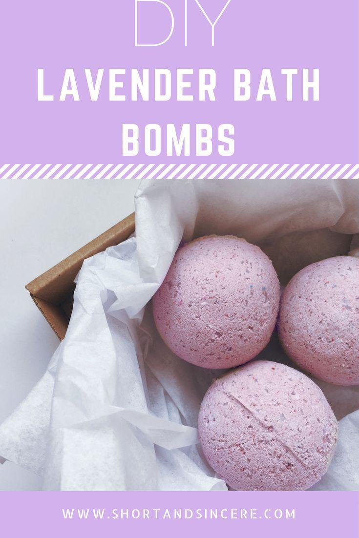 DIY lavender bath bombs. How to make your own homemade bath bombs! shortandsincere.com