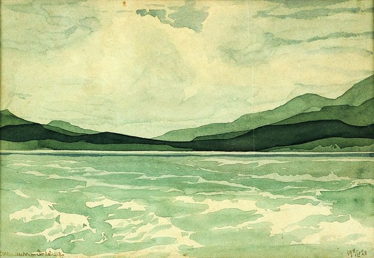 Maximilian Voloshin (1878 — 1932, Russia)View of the Crimea. 1928