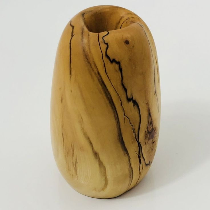 "Aspen Wood Hand Turned Bud Vase Columbine Creations CO 5"" Artist Made Weed Pot  | eBay"