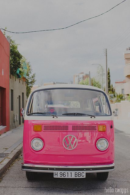 pink bus, Westfalia