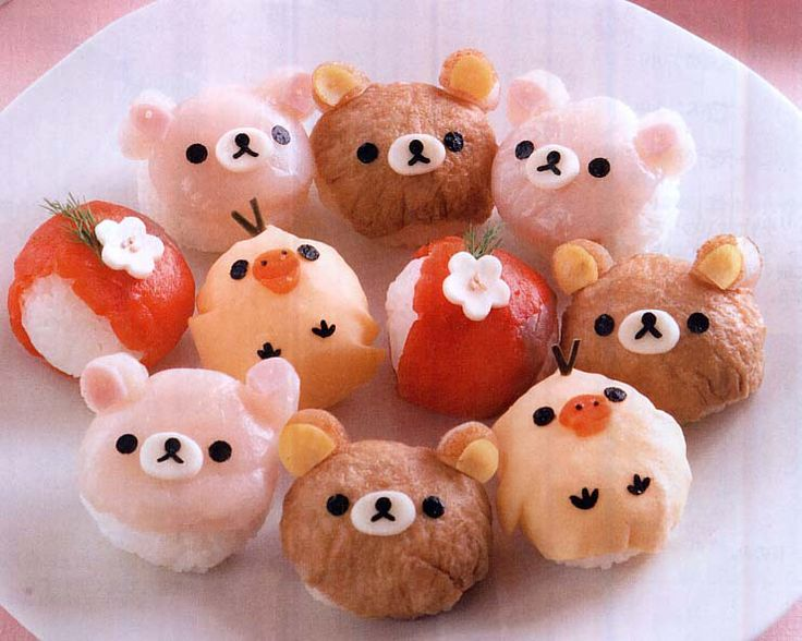 Rilakkuma Decorative Sushi リラックjマのデコ寿司 from http://ameblo.jp/suteoku03/entry-11153463980.html