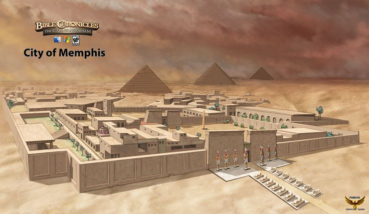 The City of Memphis, Egypt - artist's reconstruction