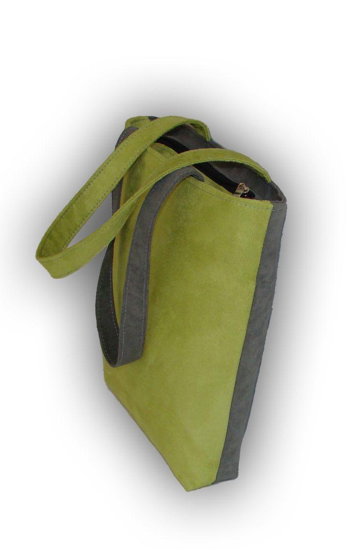 News news news! bag DOUBLE grey lime