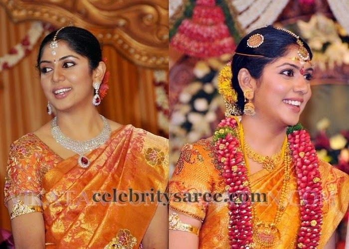 Karthi Wife Wedding Blouse