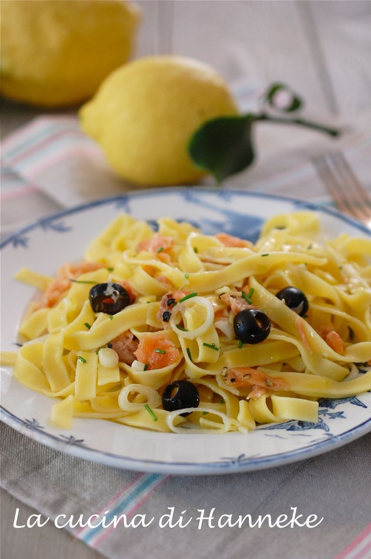 Tagliatelle al limone e salmone affumicato | La cucina di Hanneke