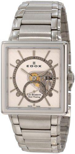 Edox Men's 72012 3 AIN Les Bemonts Hand Winding White Dial Watch - http://uhr.haus/edox/edox-mens-72012-3-ain-les-bemonts-hand-winding-dial