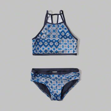 high neck two-piece swimsuit from Abercrombie Kids | Things I