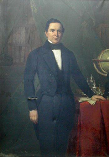 RETRATO DEL DOCTOR GABRIEL OCAMPO Y HERRERA, 1850 Óleo sobre tela 109 x 153 cm Museo Nacional de Bellas Artes, Santiago, Chile