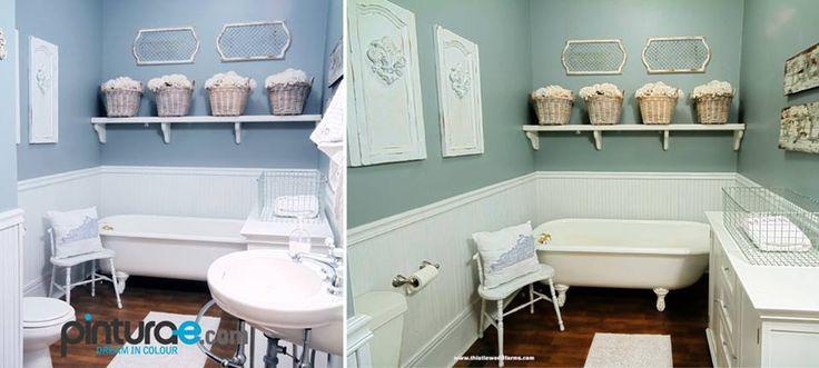 Hoy os enseñamos un baño decorado en tonod pastel. el mismo baño ...